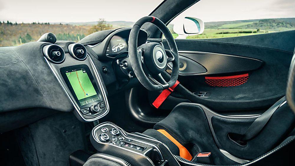 Review: McLaren 620R Interior Cockpit