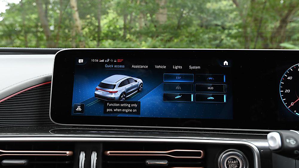 Review: Mercedes-Benz EQC 400 Infotainment