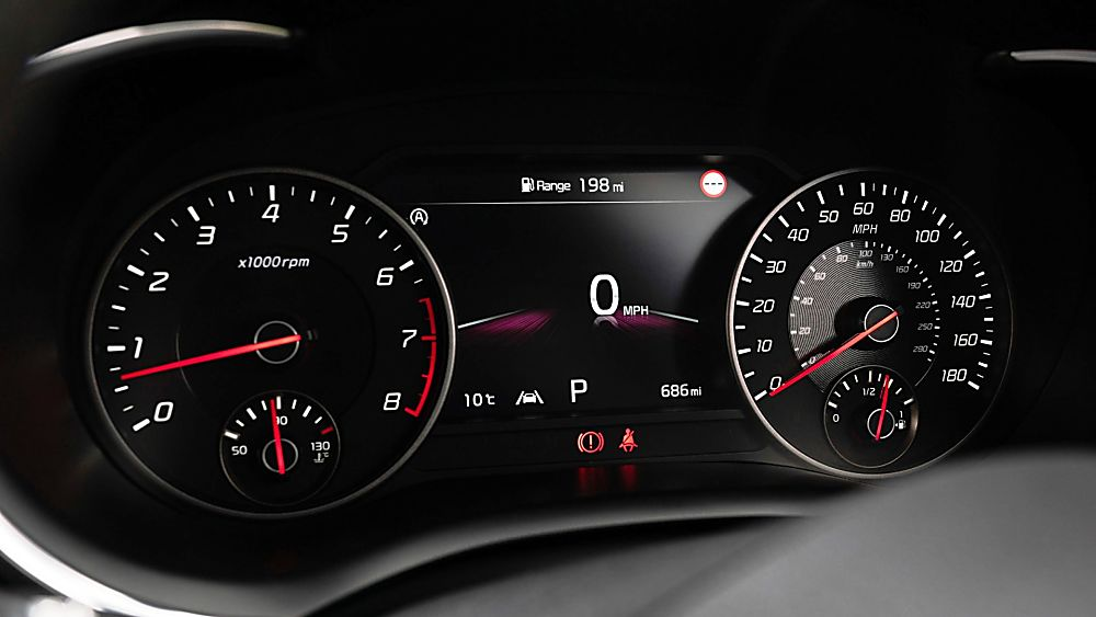 Review: KIA Stinger GT S Dashboard