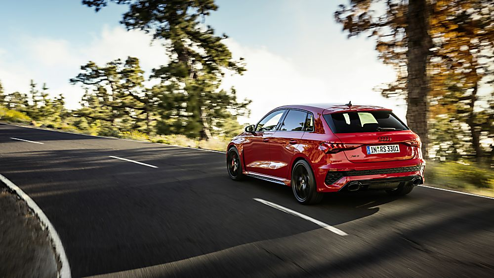 AUDI: RS 3 2022 Sportback on the road