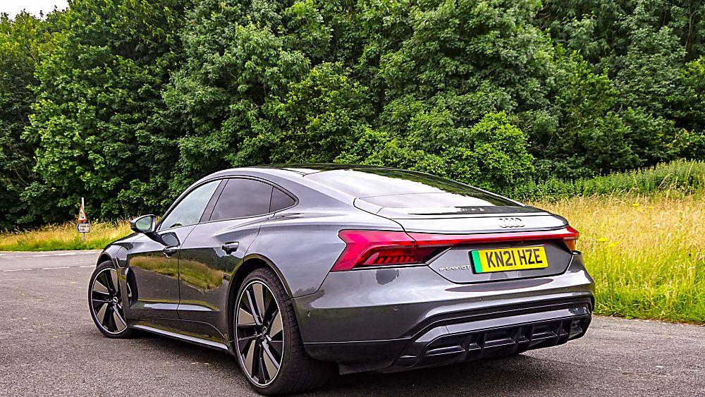 Review: Audi e-tron GT quattro Rear Side