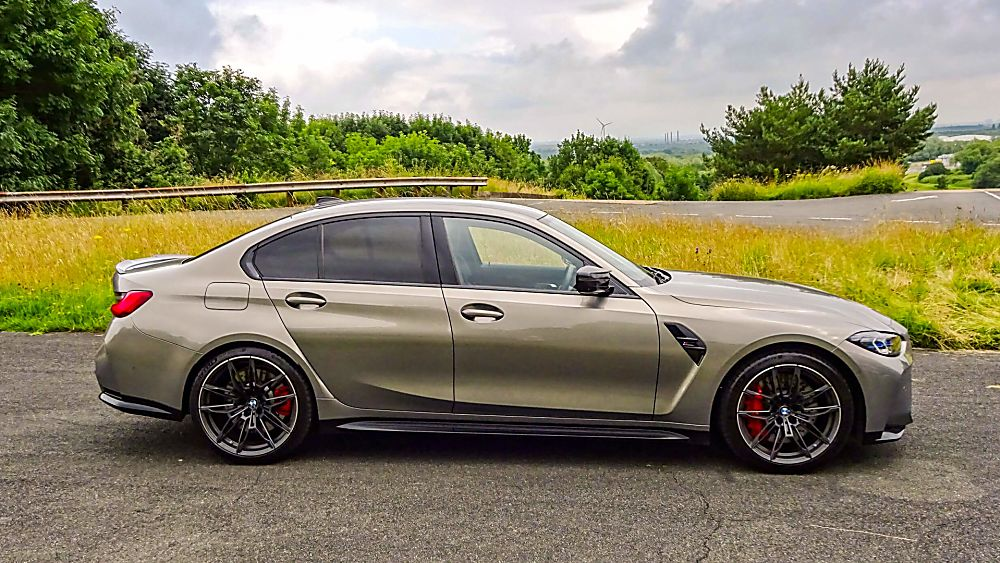 Review: 2021 BMW M3 Competition Side