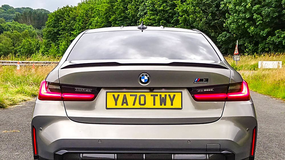 Review: 2021 BMW M3 Competition Rear