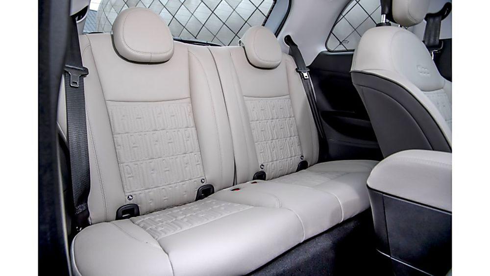 Review: Fiat New 500 EV hatch Interior Rear