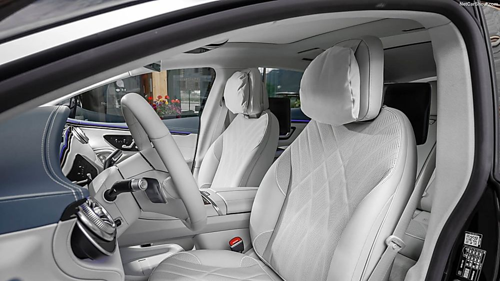 MERCEDES-BENZ: EQS saloon now on sale from £99,995 Interior Front