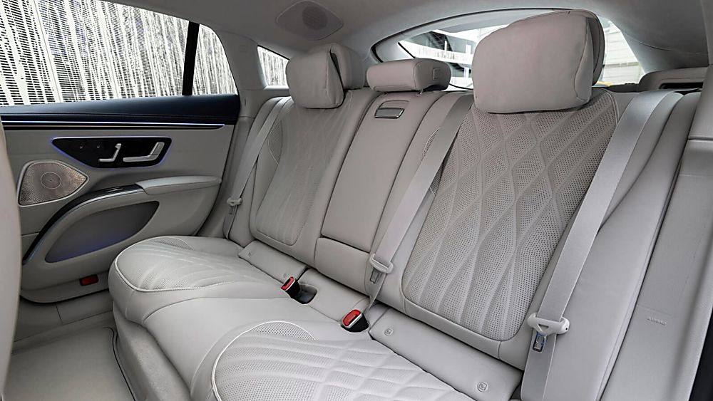 MERCEDES-BENZ: EQS saloon now on sale from £99,995 Interior Rear