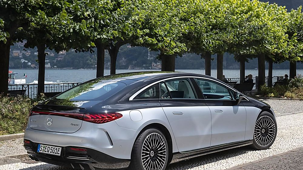 MERCEDES-BENZ: EQS saloon now on sale from £99,995 Hero Rear
