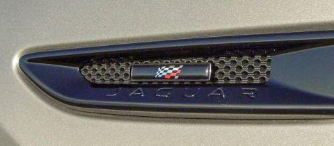 Jaguar F-Pace Chequered Flag Emblem