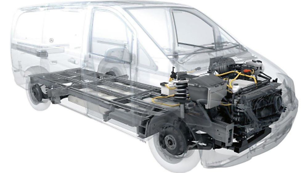 Mercedes Benz E-Vito Electric Powertrain