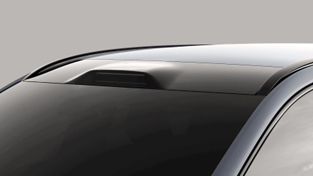 Volvo Luminar LiDAR roof integration