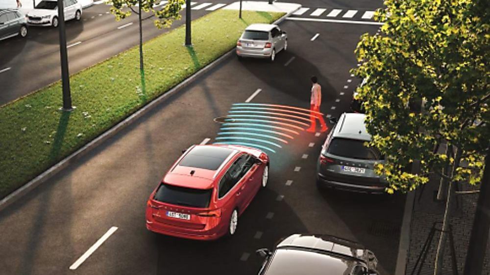 Skoda Octavia Front assist with pedestrian protection
