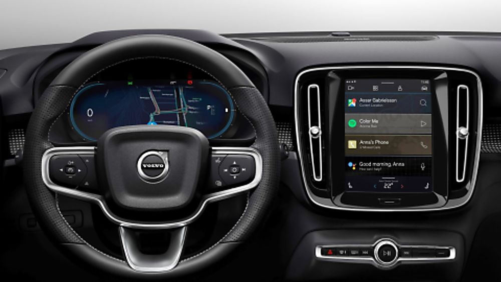 Volvo Electric XC40 Recharge Dashboard