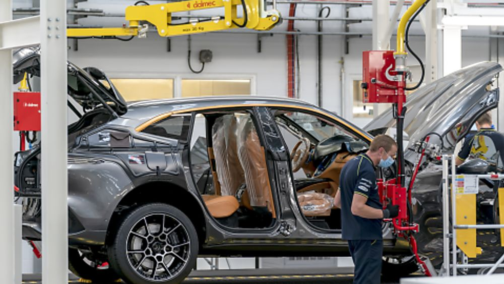 Aston Martin DBX Wales Production Line