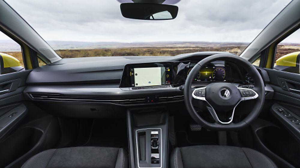 2020 Volkswagen Golf Mk8 driving position