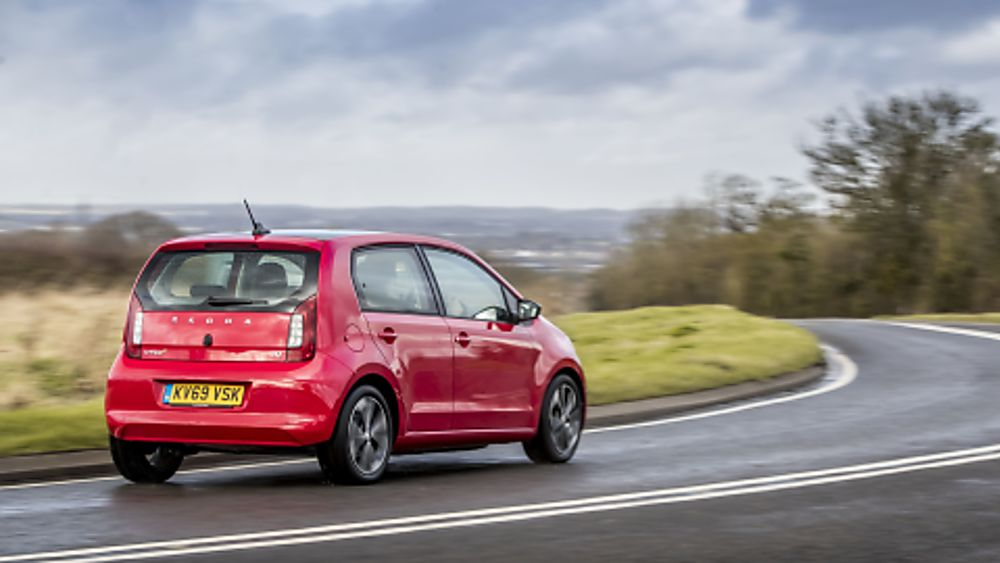 Skoda Citigo e-iV on the road