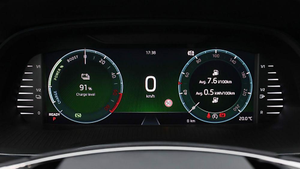 SKODA: New Octavia iV PHEV Dashboard