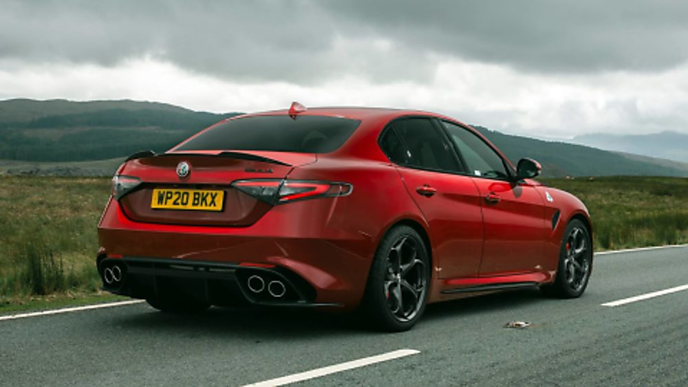 Alfa Romeo Giulia Quadrifoglio Verde On the Road Rear