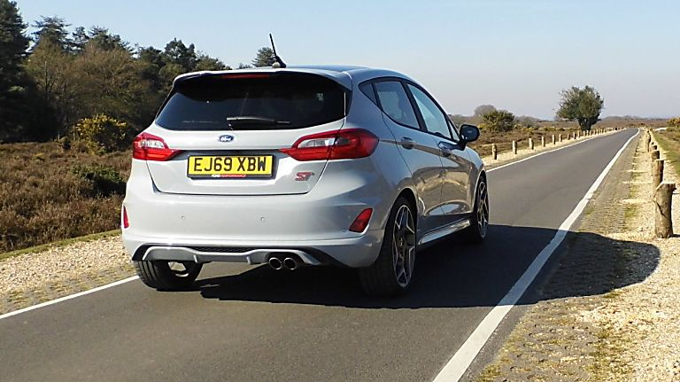 Ford Fiesta ST 5dr rear angle and exhaust