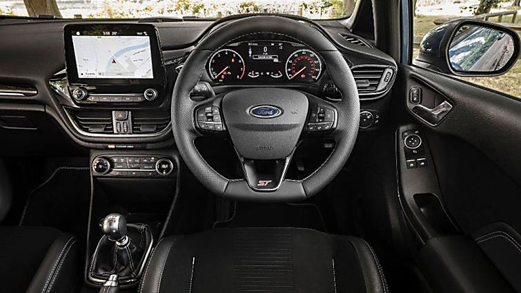 Ford Fiesta ST 5dr drivers side interior and dashboard