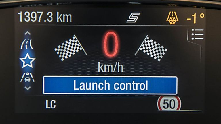 Ford Fiesta ST 5dr electronic dashboard - launch control