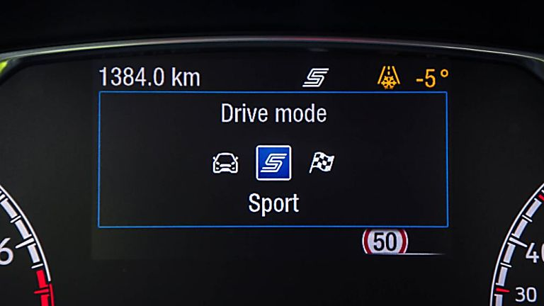 Ford Fiesta ST 5dr electronic dashboard - drive mode