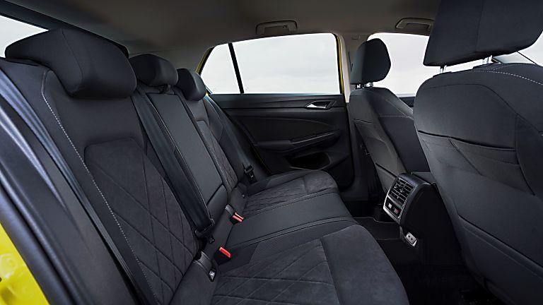 Volkswagen Golf Mk8 rear passenger interior