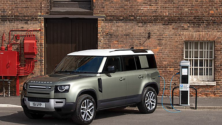 Land Rover Defender PHEV front angle