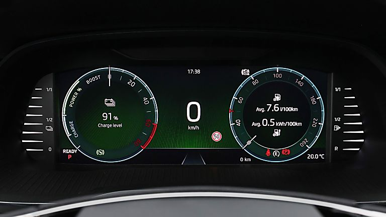 SKODA: New Octavia iV PHEV Dashboard