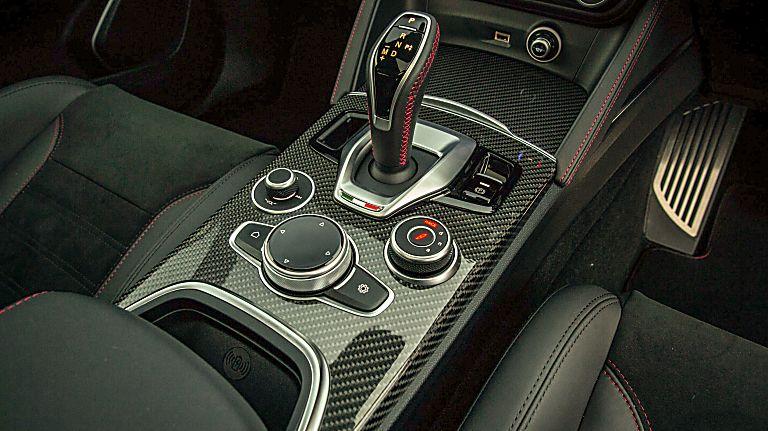 Alfa Romeo Stelvio Quadrifoglio Verde Center Console