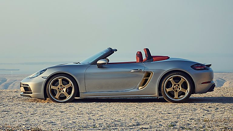 PORSCHE: 718 Boxster gains 25 Years anniversary edition Side