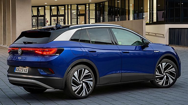 VOLKSWAGEN: Order books open for ID.4 electric SUV Hero Rear Side