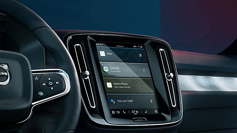 VOLVO: New C40 Recharge EV coming to the UK - Infotainment