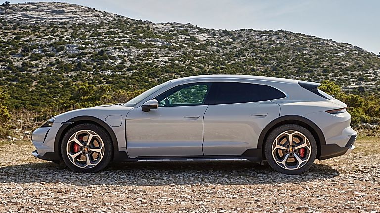 PORSCHE: New Taycan Cross Turismo revealed Side