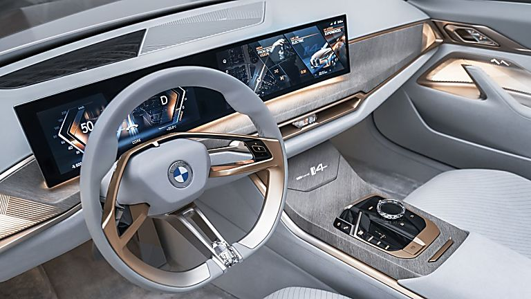 BMW: First images of all-new i4 EV saloon revealed Interior Cockpit