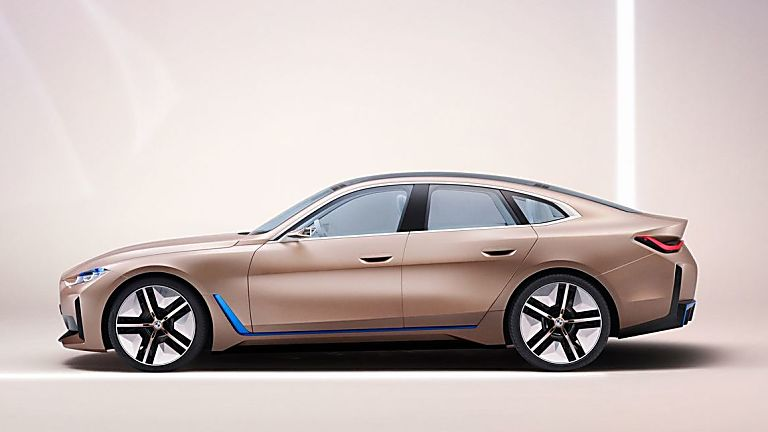 BMW:  First images of all-new i4 EV saloon revealed Side