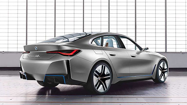 BMW: First images of all-new i4 EV saloon revealed Hero Rear