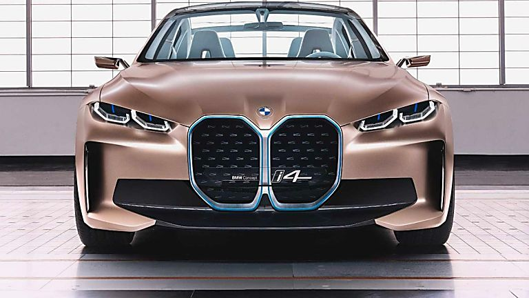 BMW:  First images of all-new i4 EV saloon revealed Front