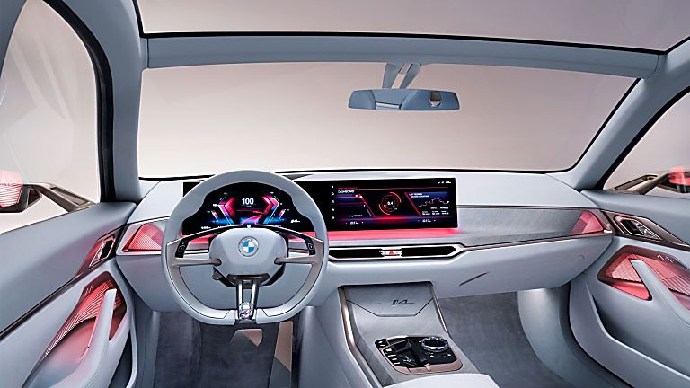 BMW:  First images of all-new i4 EV saloon revealed Interior Front
