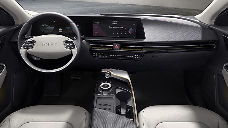 KIA:  All-new EV6 electric car now on sale - Interior Front