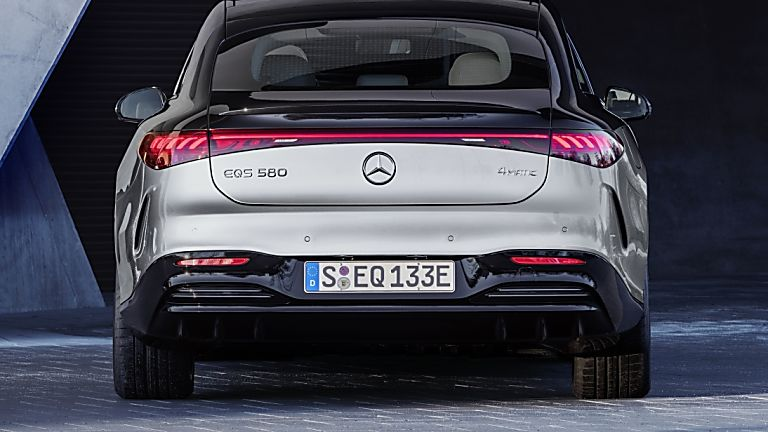 MERCEDES-BENZ:  EQS luxury EV saloon breaks cover - Hero Rear