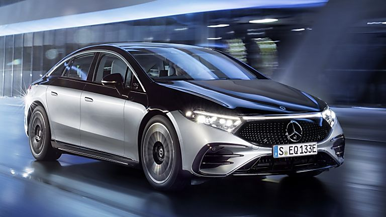 MERCEDES-BENZ:  EQS luxury EV saloon breaks cover - Hero Front