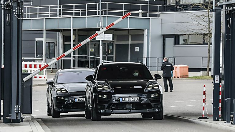 PORSCHE: All-electric Macan previewed in development 'mule' guise