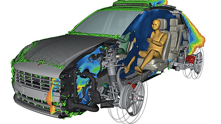 PORSCHE: All-electric Macan previewed in development 'mule' guise Simulation Outside