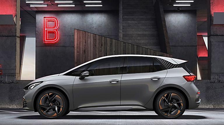 CUPRA: Enter the all-new Born sporty EV hatch Side