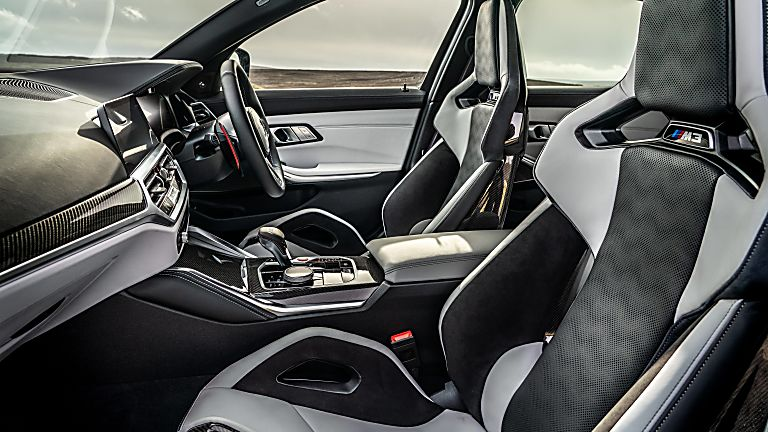Review: 2021 BMW M3 Competition Interior Front