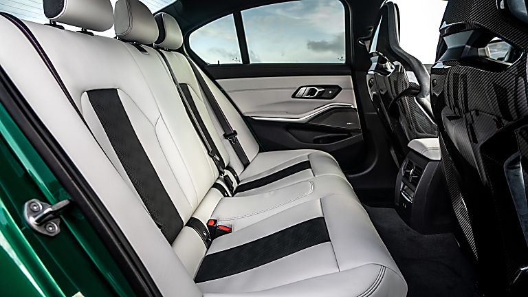 Review: 2021 BMW M3 Competition Interior Rear