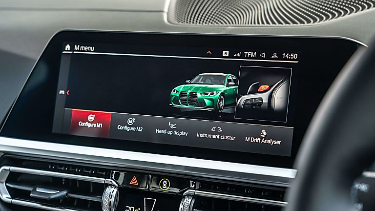 Review: 2021 BMW M3 Competition Infotainment