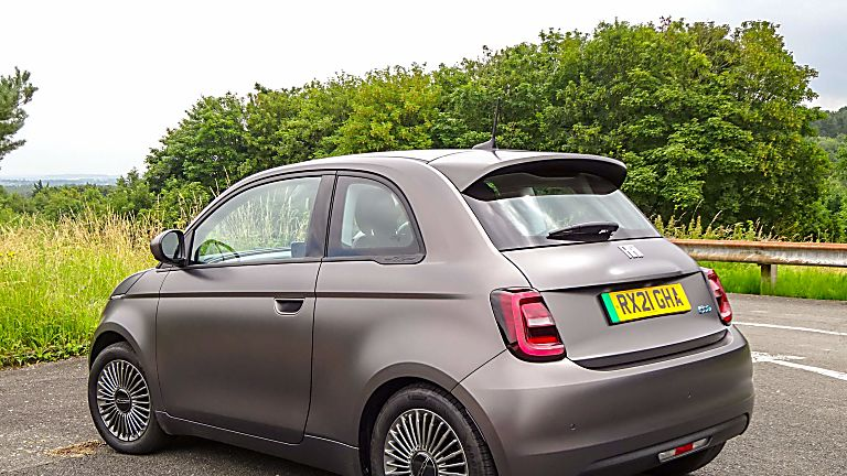 Review: Fiat New 500 EV hatch Hero Rear