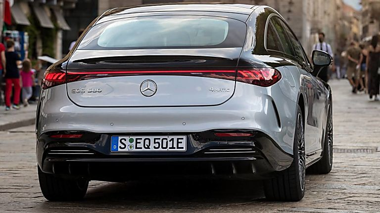 MERCEDES-BENZ: EQS saloon now on sale from £99,995 Rear