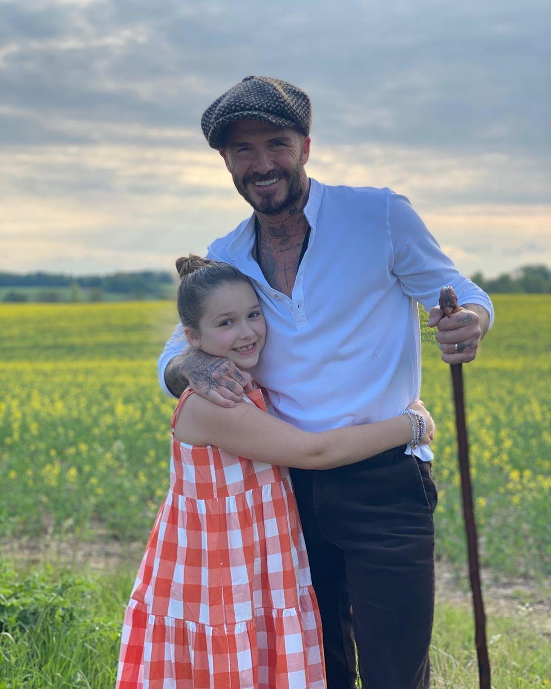 Папина дочка: Дэвид Бекхэм очаровал снимками с подросшей Харпер